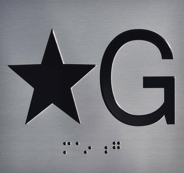 SIGNS ELEVATOR JAMB- STAR G – SILVER