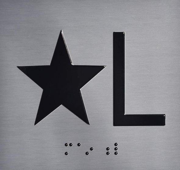 SIGNS ELEVATOR JAMB- STAR L – SILVER