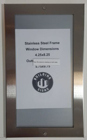 SIGNS Building Directory Board- FRAME STAINLESS STEEL