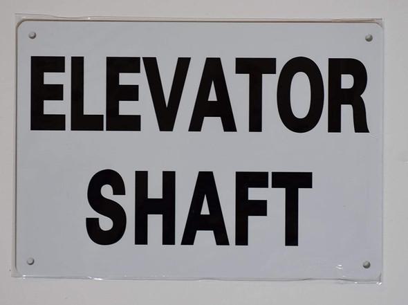 ELEVATOR SHAFT SIGN- WHITE (ALUMINUM SIGNS