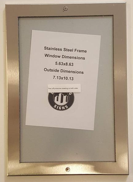 ELEVATOR CERTIFICATE FRAME- STAINLESS STEEL (CERTIFICATE