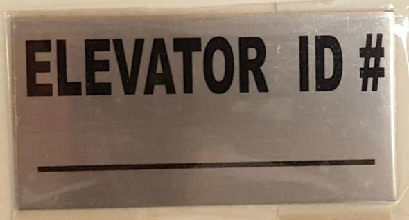 ELEVATOR ID SIGN, BRUSHED ALUMINUM (ALUMINUM