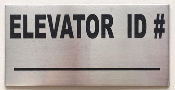 SIGNS ELEVATOR ID SIGN, BRUSHED ALUMINUM (ALUMINUM