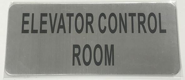 ELEVATOR CONTROL ROOM SIGN – BRUSHED