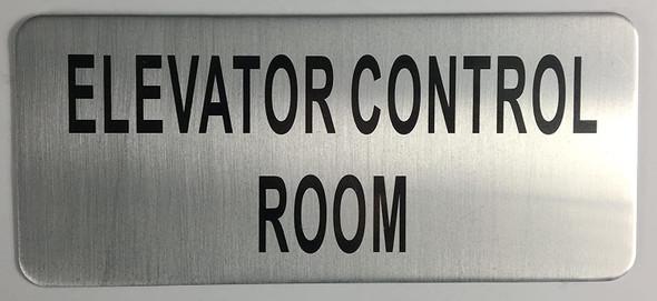 SIGNS ELEVATOR CONTROL ROOM SIGN – BRUSHED