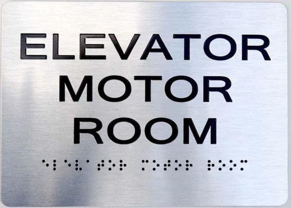 SIGNS ELEVATOR MOTOR ROOM ADA Sign -