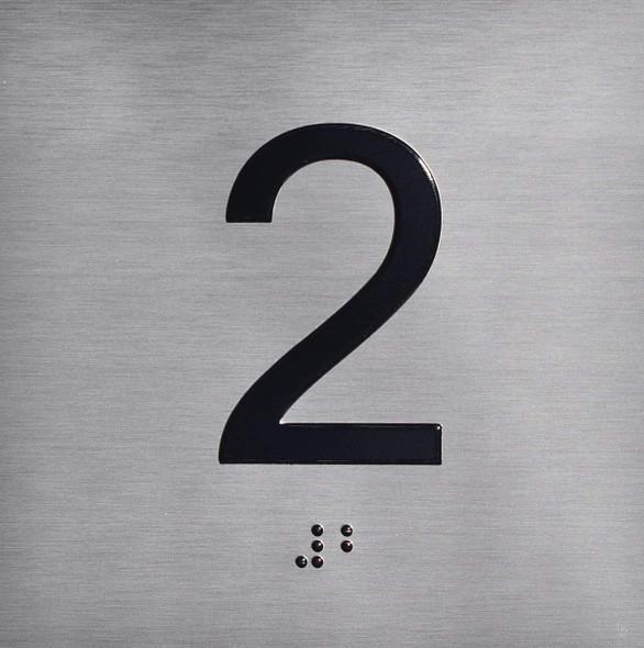 SIGNS ELEVATOR JAMB- 2 - SILVER (ALUMINUM