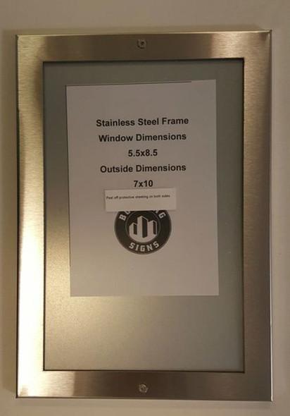 "SIGNS Elevator Notice frame 8.5"" x 5.5"""
