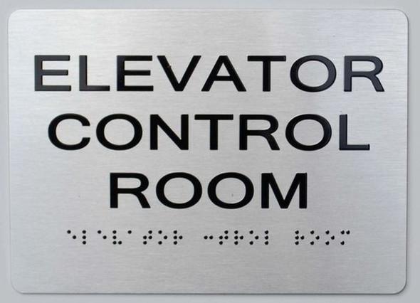 ELEVATOR CONTROL ROOM ADA-Sign -Tactile Signs