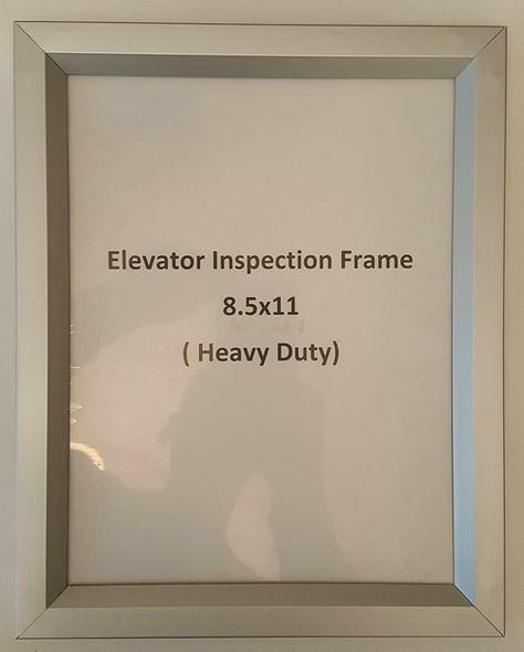 ELEVATOR INSPECTION FRAME (INSPECTION FRAMES 8.5X11)-(ref062020)