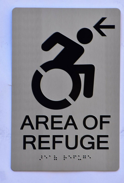 SIGNS AREA OF REFUGE SIGN – Tactile