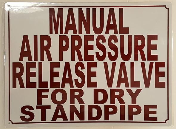 MANUAL AIR PRESSURE RELEASE VALVE FOR