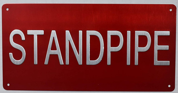 Standpipe Sign -Tactile Signs standpipe