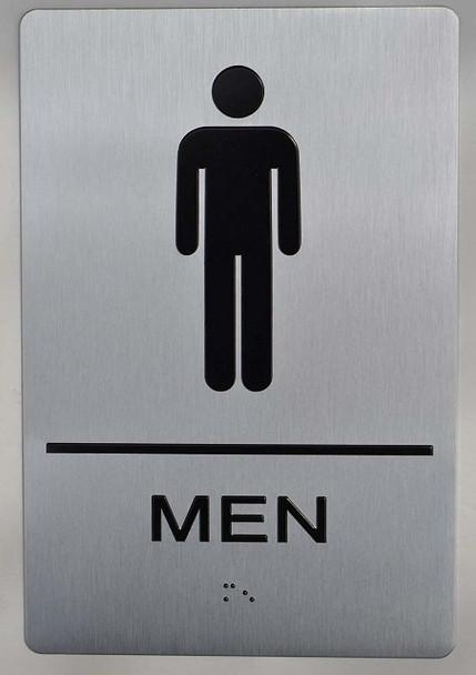 MEN RESTROOM ADA Sign -Tactile Signs