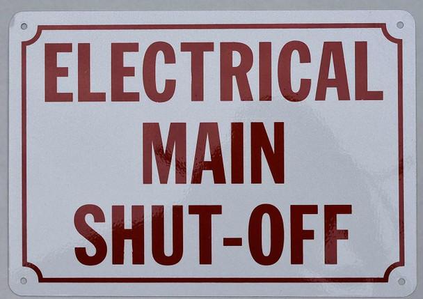 Electrical Main Shut Off Sign (Aluminium