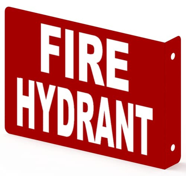 FIRE Hydrant Projection Sign-FIRE Hydrant Projection 3D Sign  Aluminium,