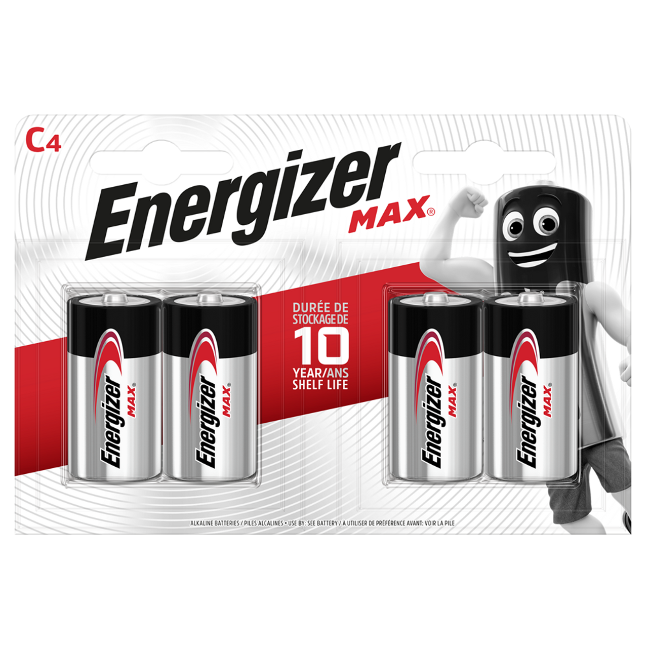 Energizer Max C Lr14 Alkaline Batteries 4 Pack Batterystation