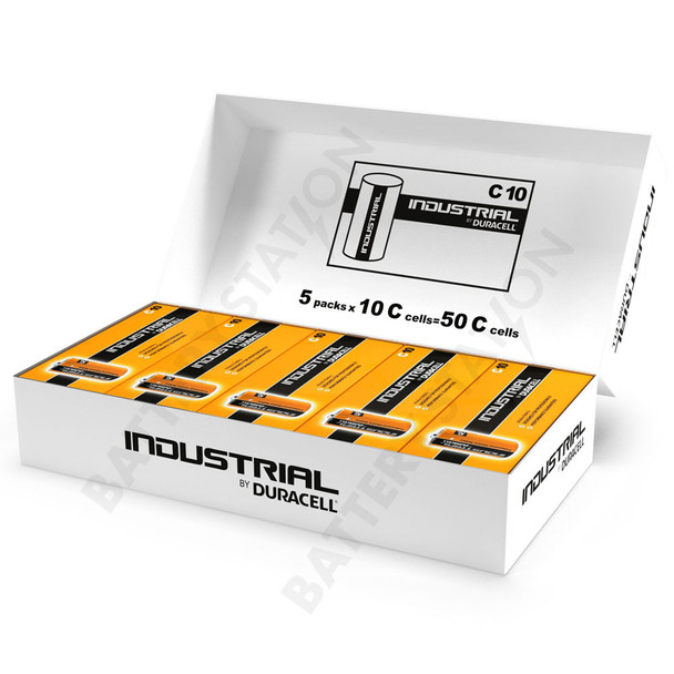 Industrial By Duracell (Procell) C LR14 ID1400 Batteries | Box of 50