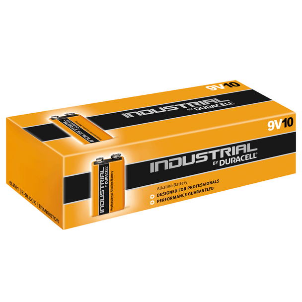 Industrial By Duracell (Procell) 9V PP3 6LR61 ID1604 Batteries | Box of 10