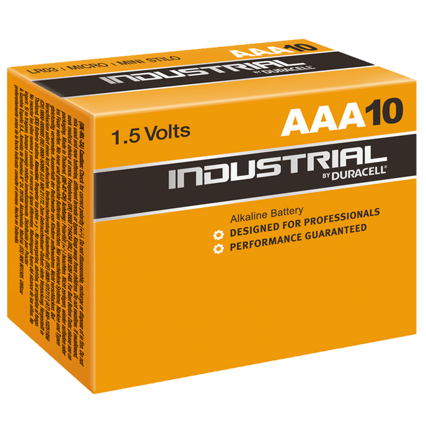 Industrial By Duracell (Procell) AAA ID2400 LR03 Batteries | Box of 10