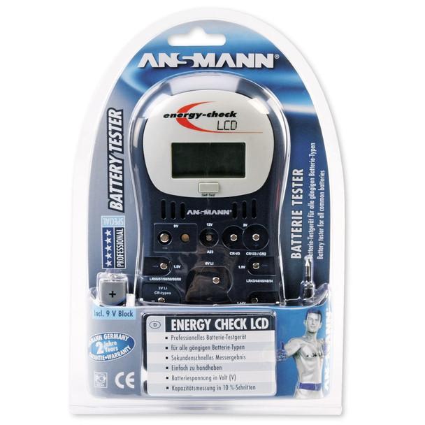 Ansmann Energy Check LCD 4000392 Battery Tester