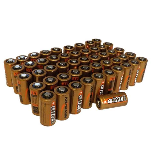 Ansmann Bulk CR123A Lithium Batteries | Box of 50