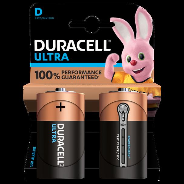 Duracell Ultra D LR20 Batteries   2 Pack