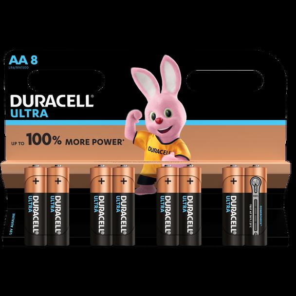 Duracell Ultra AA LR6 Batteries   8 Pack