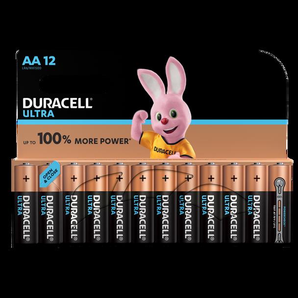 Duracell Ultra Power AA LR6 Batteries | 12 Pack