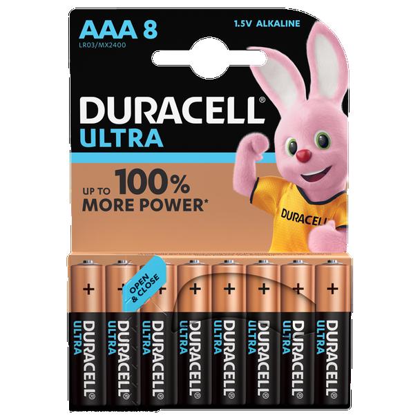 Duracell Ultra AAA LR03 Batteries | 8 Pack