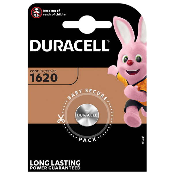 Duracell DL1620 CR1620 Lithium Coin Cell Battery | 1 Pack