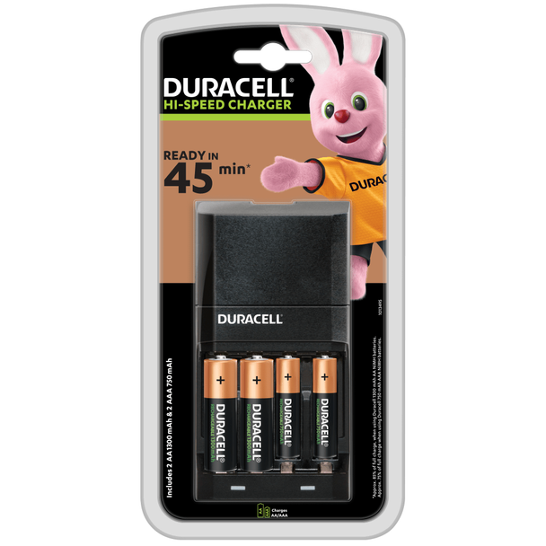 Duracell Hi-Speed Advanced Battery Charger CEF27 inc Batteries