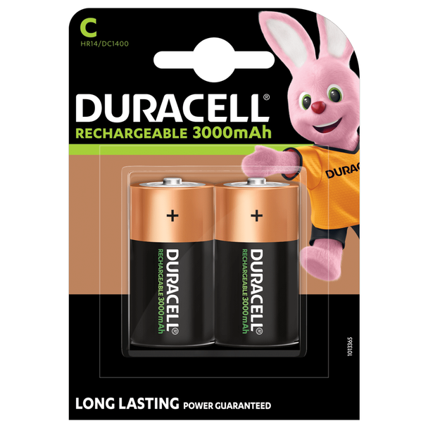 Duracell Rechargeable C HR14 3000mAh Rechargeable Batteries   2 Pack