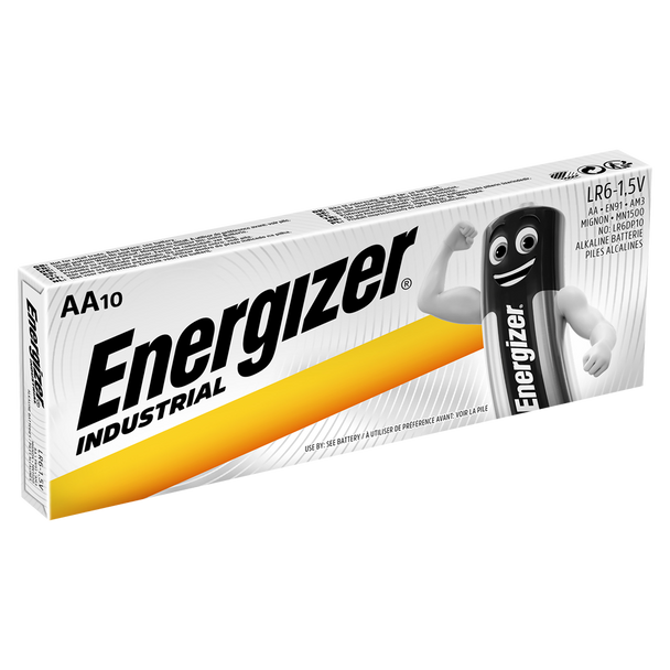 Energizer Industrial AA LR6 Batteries | Box of 10