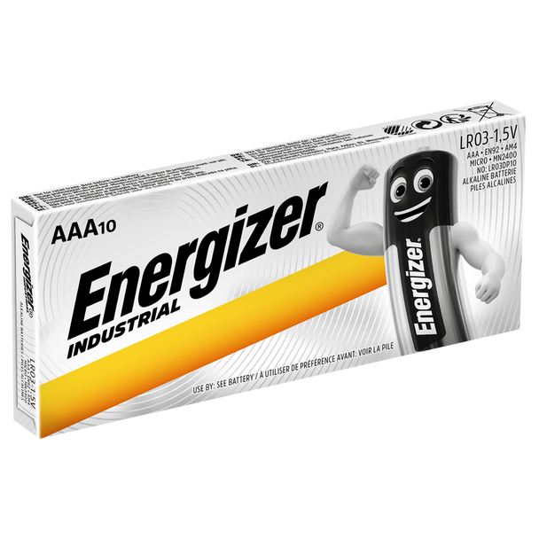 Energizer Industrial AAA LR03 Batteries | Box of 10