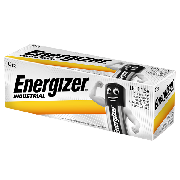 Energizer Industrial C LR14 Batteries | Box of 12