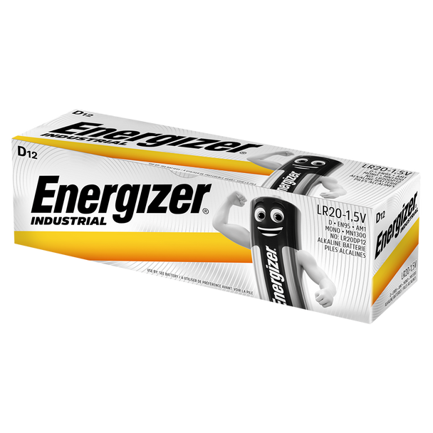 Energizer Industrial D LR20 Batteries | Box of 12