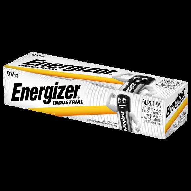 Energizer Industrial 9V PP3 6LR61 Batteries | Box of 12