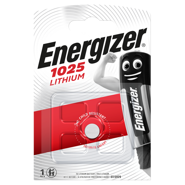 Energizer CR1025 Lithium Coin Cell Battery | 1 Pack