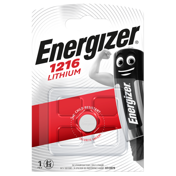 Energizer CR1216 L40 Lithium Coin Cell Battery   1 Pack
