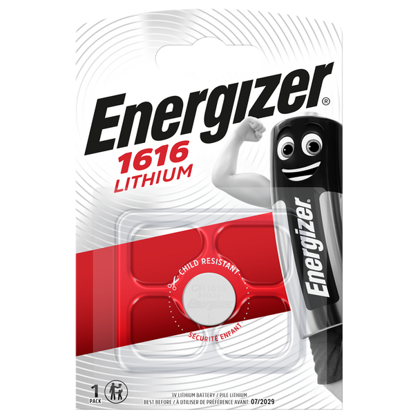 Energizer CR1616 L28 Lithium Coin Cell Battery | 1 Pack