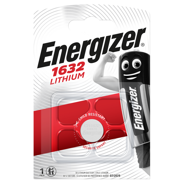 Energizer CR1632 L50 Lithium Coin Cell Battery | 1 Pack