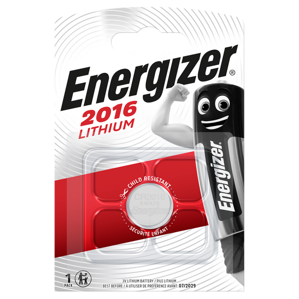 Energizer CR2016 Lithium Coin Cell Battery   1 Pack