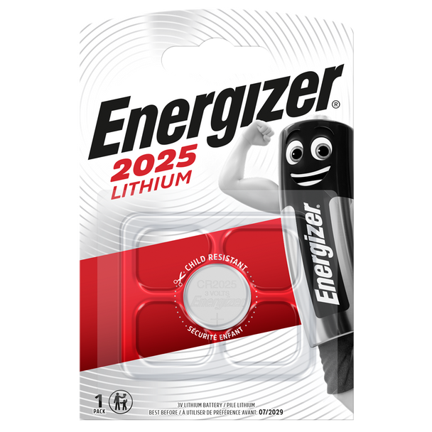Energizer CR2025 Lithium Coin Cell Battery | 1 Pack