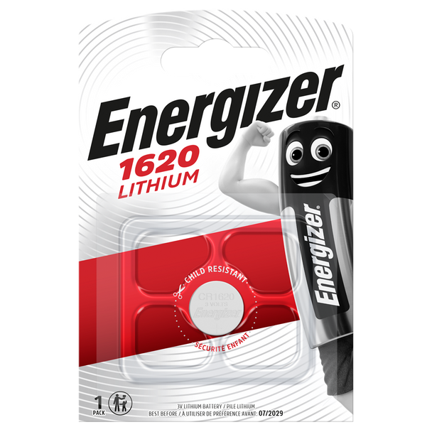Energizer CR1620 Lithium Coin Cell Batteries | 1 Pack