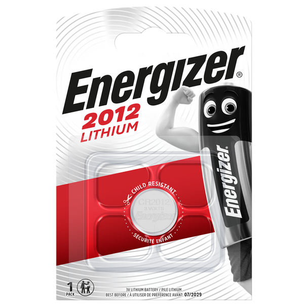 Energizer CR2012 Lithium Coin Cell Batteries | 1 Pack