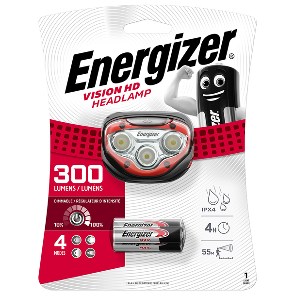 Energizer Vision HD LED Headlight | 300 Lumens | Batteries Included