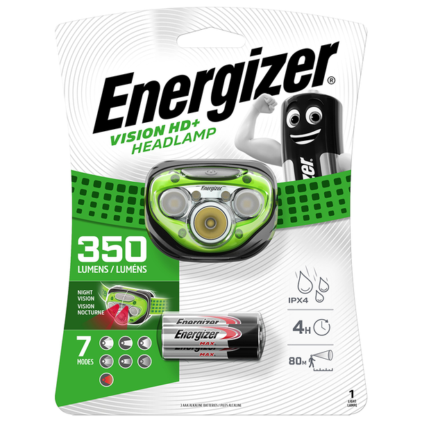 Energizer Vision HD+ LED Headlight | 350 Lumens | Batteries Included