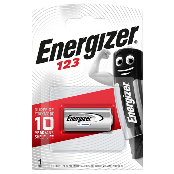 Energizer 123 CR123A Lithium Battery | 1 Pack