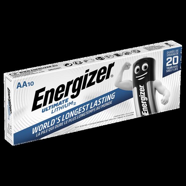 Energizer Ultimate Lithium AA LR6 L91 Batteries | 10 Pack
